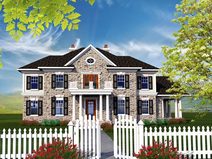 Colonial House Plan, 020H-0334
