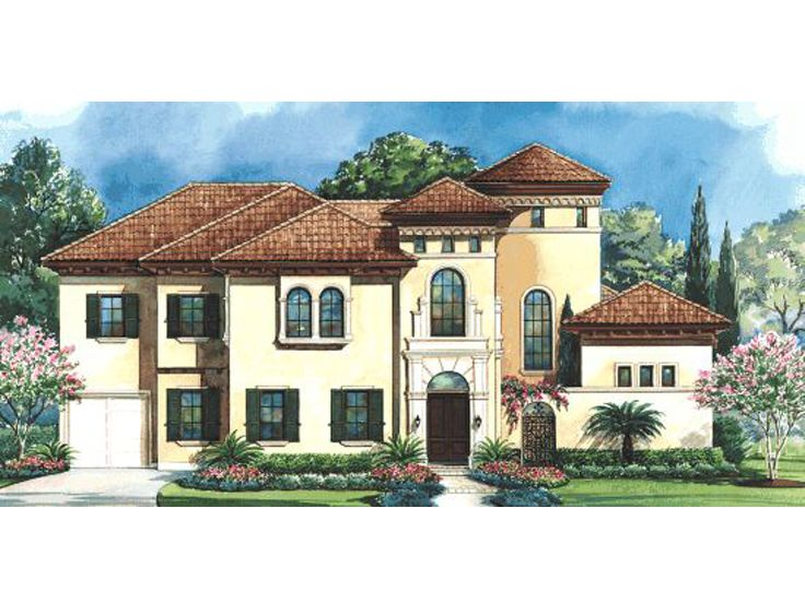 Tuscan House Design, 031H-0176