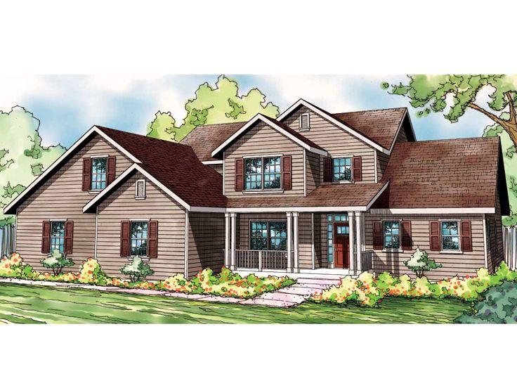 Country Home Plan, 051H-0181