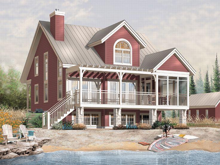 Plan H    Find Unique House Plans  Home Plans and Floor    Coastal House  Rear  H