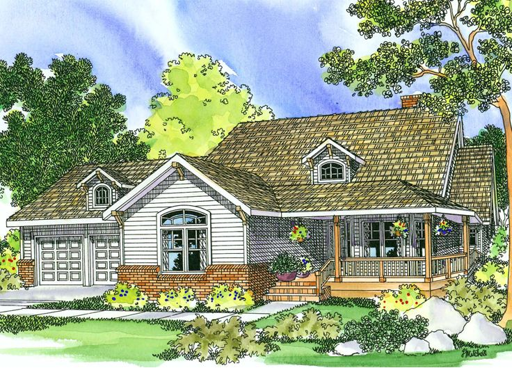 Country Home Plan, 051H-0034