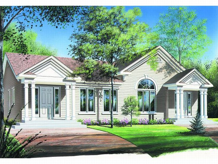 Duplex House Plan, 027M-0003