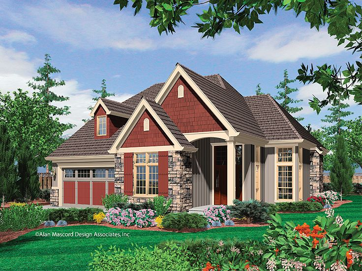 European House Plan, 034H-0180