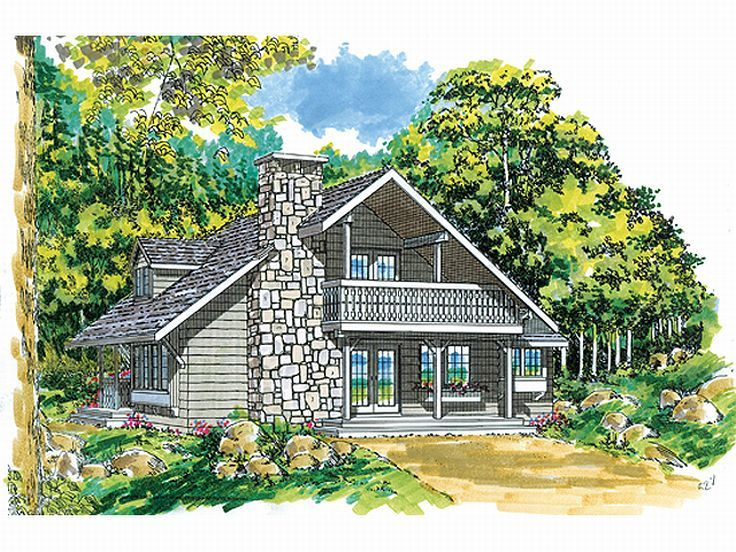 Rustic House Plans plan8504 00028 Rustic House Plan 032h 0001