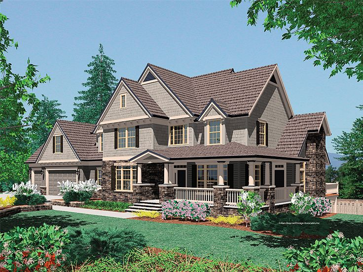 Country Craftsman Home, 034H-0216