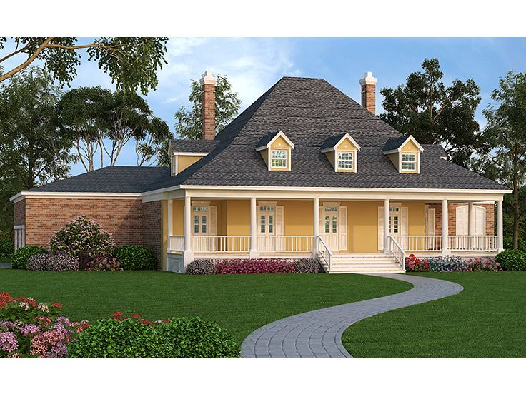 Southern House Plans Luxurious Two Story Southern Home