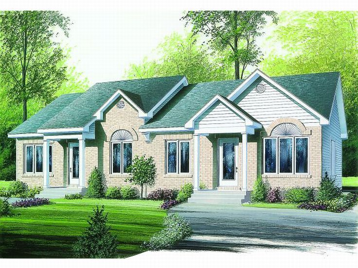 Duplex Home Plan, 027M-0006