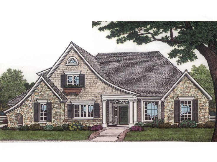 European House Plan, 002H-0031