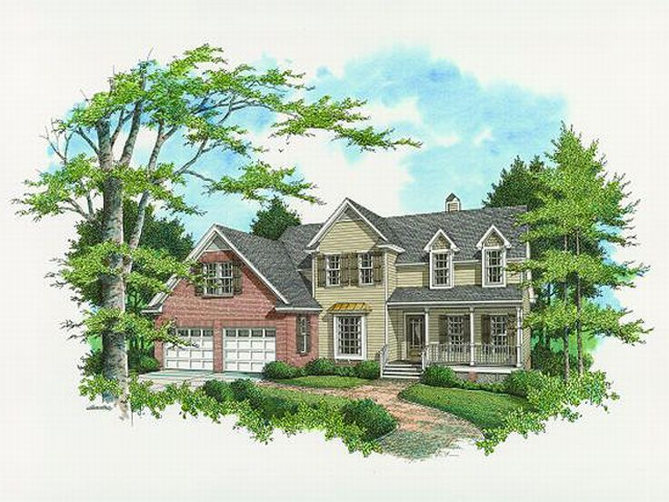 2-Story Home Plan, 030H-0052
