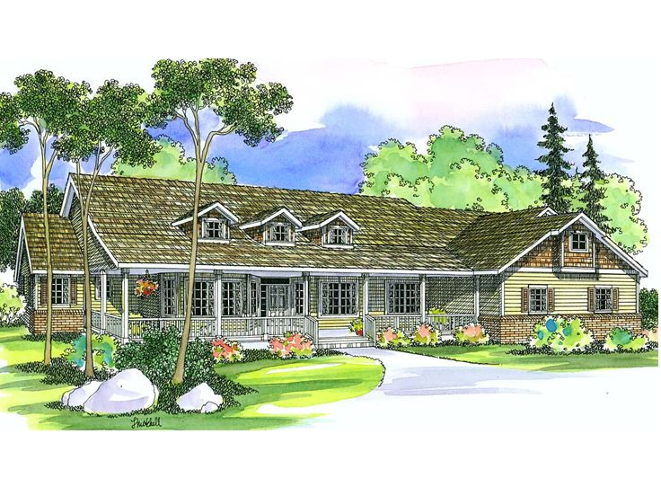Country Home Design, 051H-0081