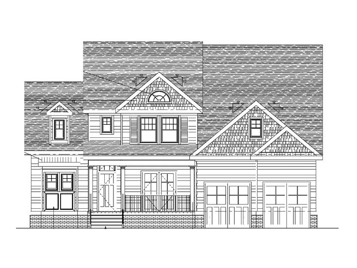 Two-Story House Plan, 058H-0096