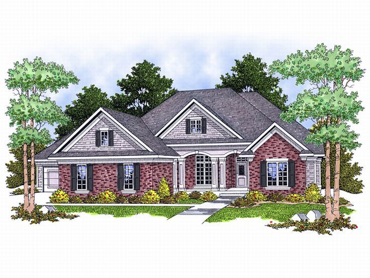 Ranch Home Design, 020H-0102
