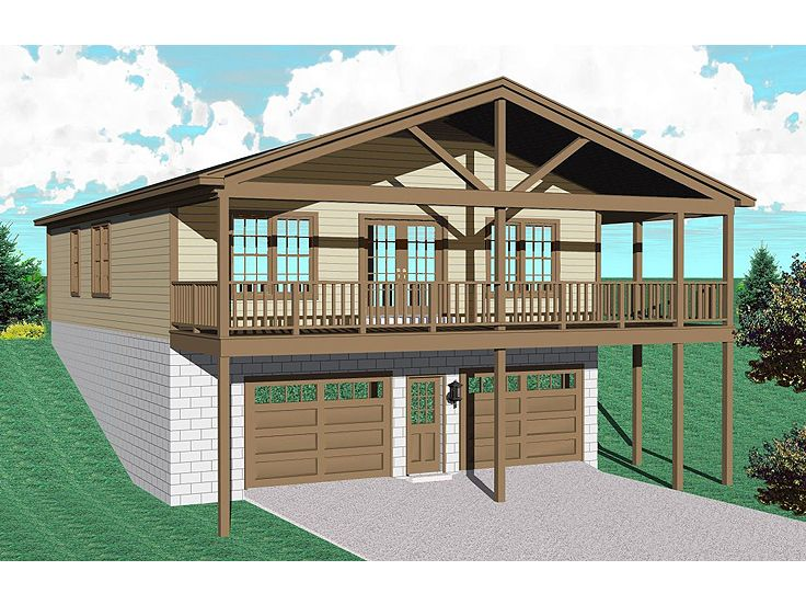 Garage Apartment Plans   Garage Apartment Plan makes Cozy Lakeside    Garage Apartment Plan  G