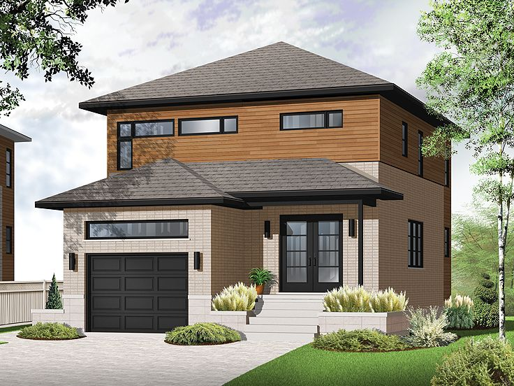 Modern House Plans 2 Story Contemporary Home Plan Fits: narrow contemporary house plans
