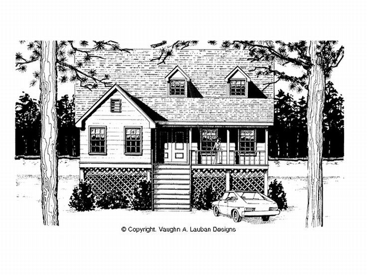 Coastal House Plan, 004H-0030