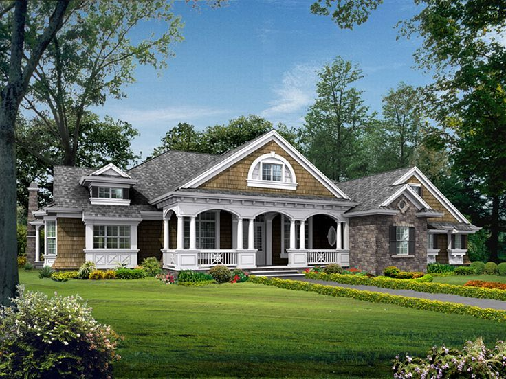 Plan 035h 0048 find unique house plans home plans and for Single story ranch homes