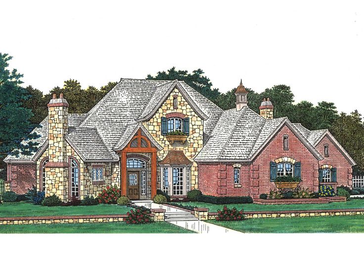 European House Plan, 002H-0070