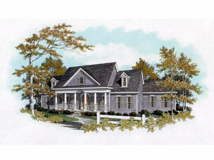 Southern Country Home, 019H-0064