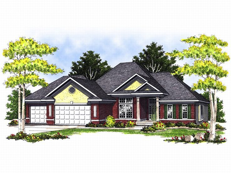 One-Story House Plan, 020H-0064