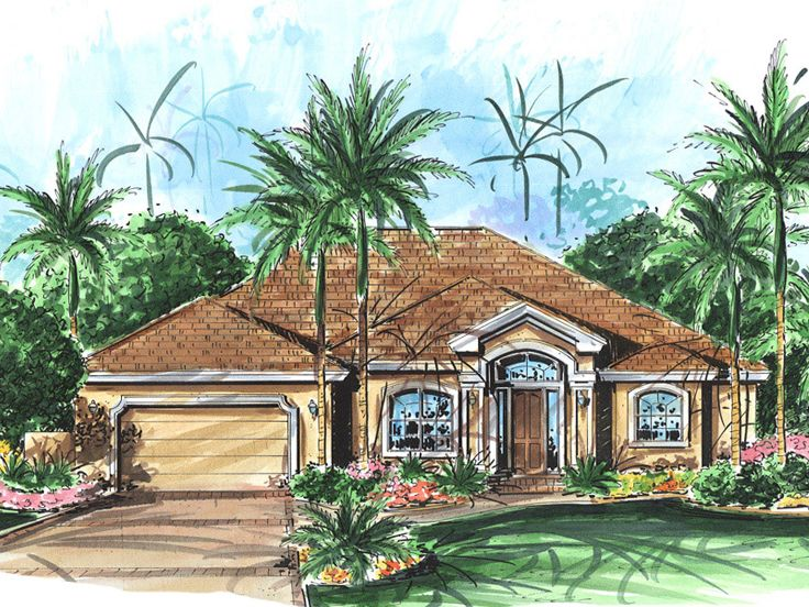 Sunbelt House Plan, 037H-0181