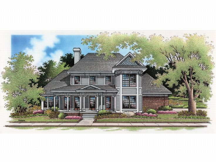 Two-Story House Plan, 021H-0126
