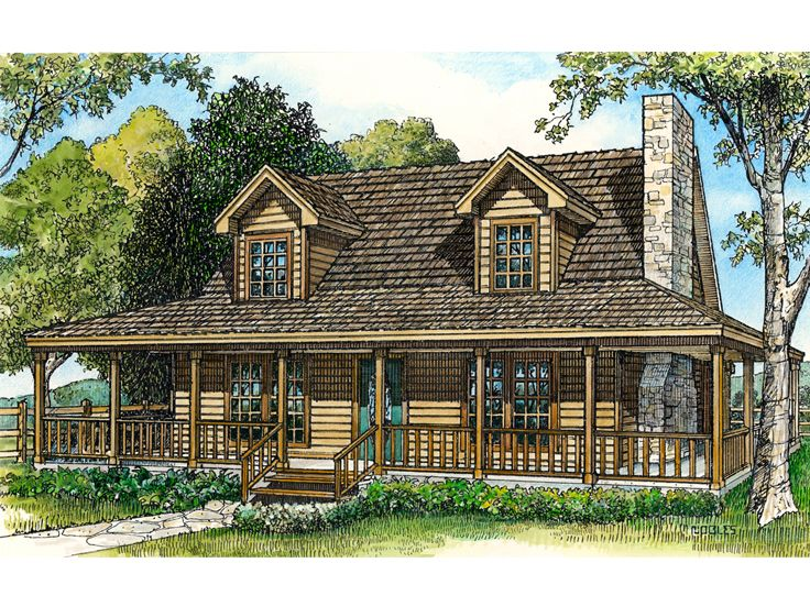 Country House Plan, 008H-0034