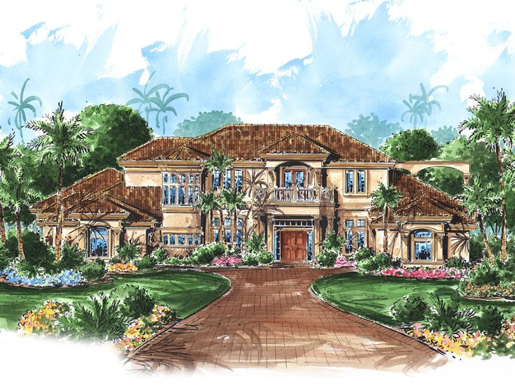Mediterranean Home Plan, 037H-0061