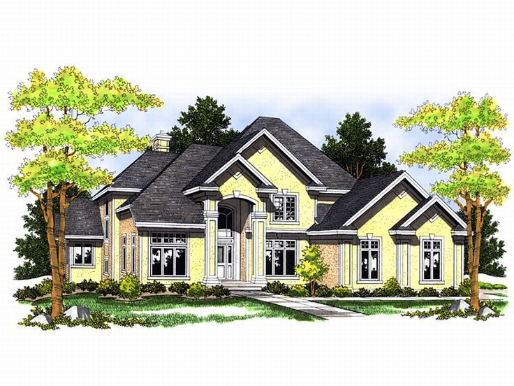 Luxury House Plan, 020H-0077