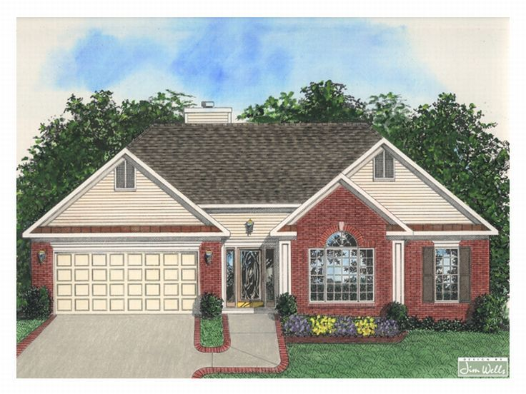 Traditional Home Plan, 007H-0022