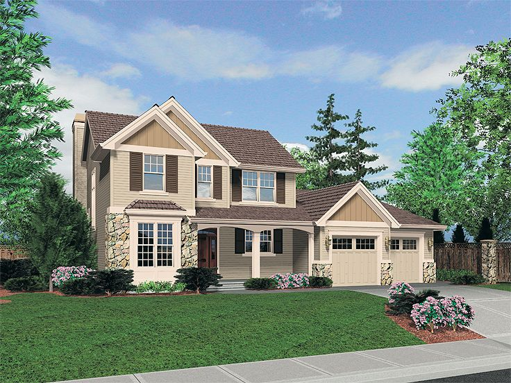 Traditional Home Plan, 034H-0178