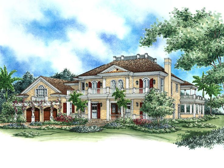 Southern House Design, 037H-0060