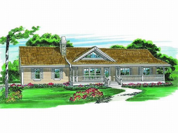 Ranch Home Plan, 032H-0062
