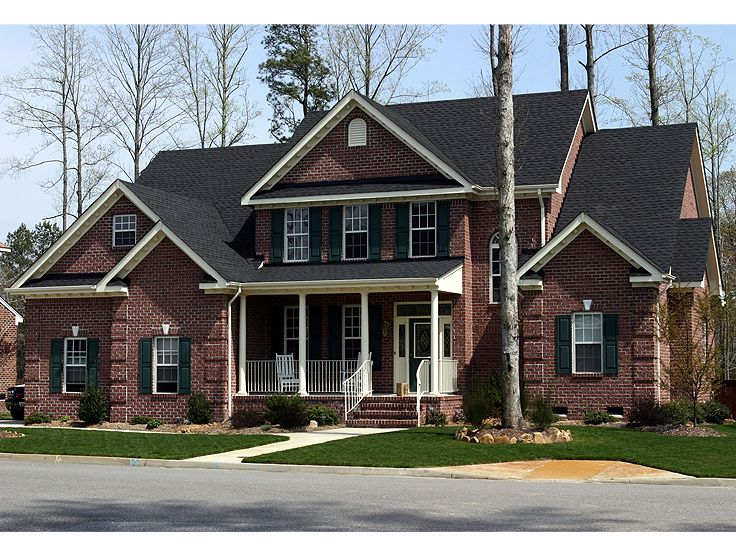 Two story home plans 2 story country traditional house for Traditional 2 story house