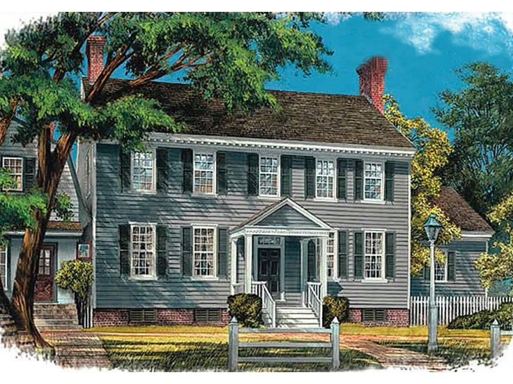 Colonial Home Plan, 063H-0038