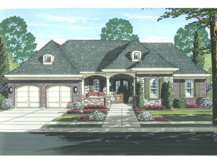 Ranch Home Design, 046H-0096
