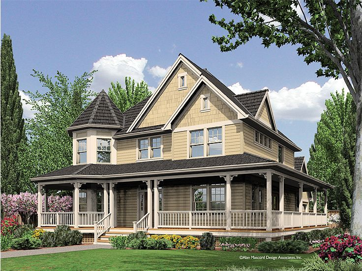 Country Victorian House, 034H-0208