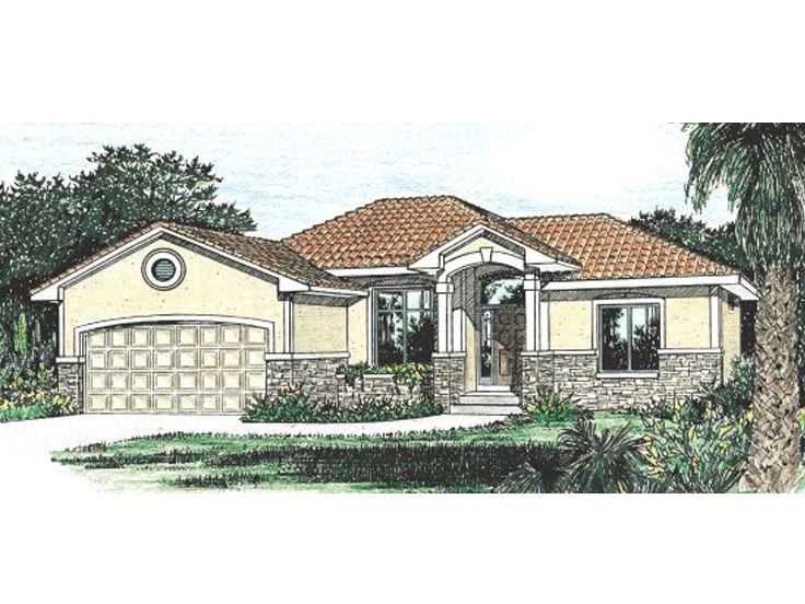 Sunbelt House Plan, 031H-0120