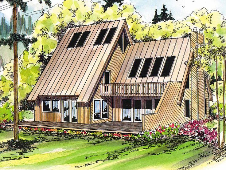 A-Frame House Plan, 051H-0006