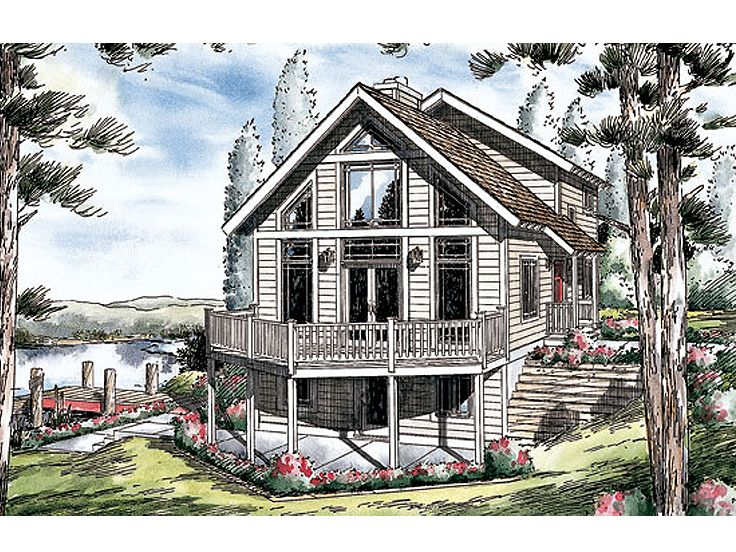 Waterfront Home Plan, 047H-0022