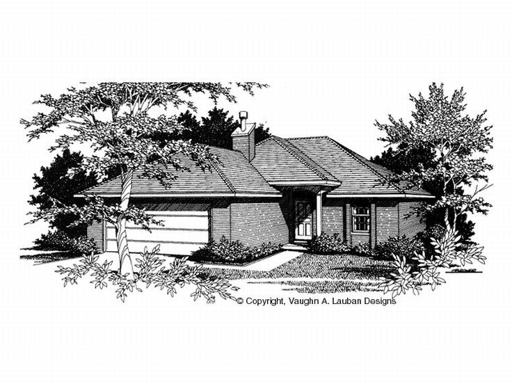 Narrow Lot House Plan, 004H-0005