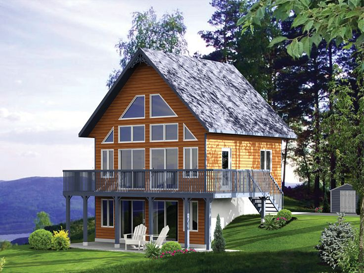 Mountain Vacation Home Plan, 072H-0214