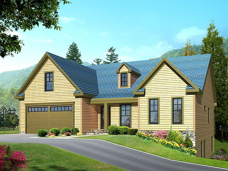 Plan 053h 0018 find unique house plans home plans and for House plans sloped lot