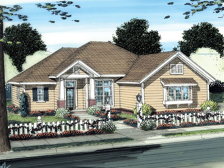 Ranch House Plan, 059H-0122