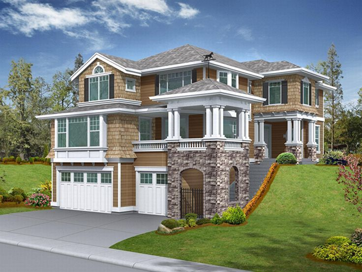 Sloping Lot Home Plan, 035H-0022