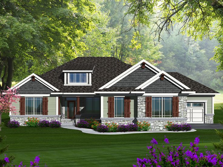 Waterfront House Plan, 020H-0337