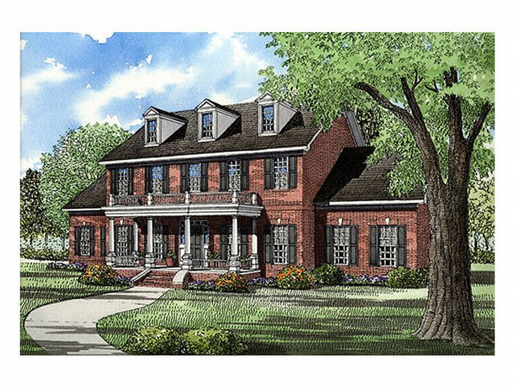 Colonial House Plan, 025H-0019