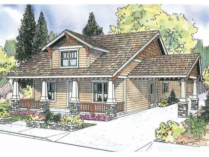 Plan 051h 0142 find unique house plans home plans and for Small craftsman house plans with garage
