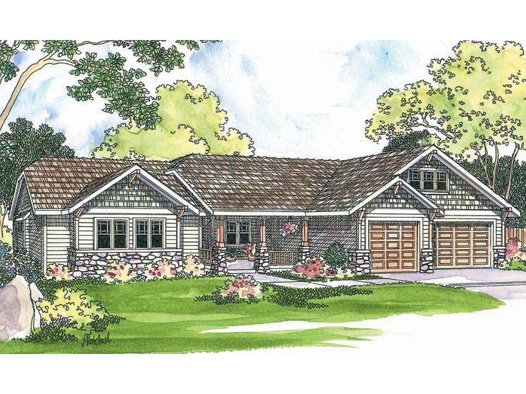 Ranch House Plan, 051H-0079