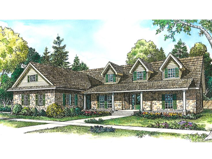 Ranch House Plan, 008H-0008