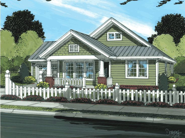 Bungalow House Plan, 059H-0019